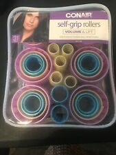 Conair SELF GRIP ROLLERS 31 Piece Set Multi Size Volume and Lift In Storage Case