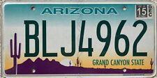 GENUINE Arizona Grand Canyon State USA License Licence Number Plate BLJ 4962