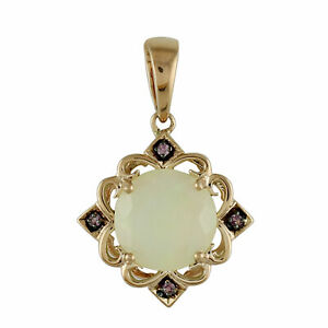 14k Rose Gold Casual Pendant with Natural Ethiopian Opal 2.23 Ct. Gemstone