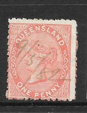 QUEENSLAND 1879-81  1d    QV   PEN CANCEL  DIE 1      SG 128