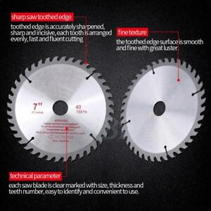 Teeth Cemented Carbide Circular Saw Blade Wood Cutting Blade Disc Tool Bore