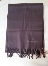 Laura BIAGIOTTI SCIARPA SCARF-Marrone Brown-lana WOOL-ITALY-NEW