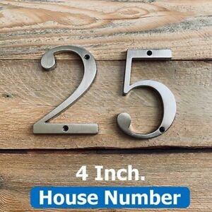 Home Address Screw Mounted Digit Numbers Zinc Alloy Material Door Plates Signage