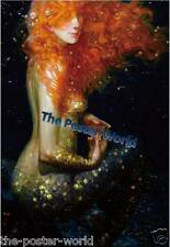 Beautiful Mermaid oil Image Picture Poster Home Decor Wall Art Print (New) 13