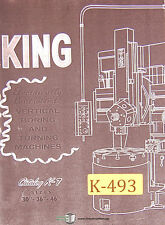"King 30"", 36"" 46"" 50"" 100"", Vertical Boring Mill , Operations & Diagram Manual"