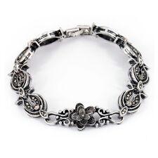 Klassisches Antikstil Trachtenschmuck Armband fürs Dirndl Markasite-Stil Floral