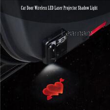 2x Love Heart Shape Logo Car Door Wireless 7W LED Laser Projector Shadow Light