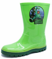 KIDS BOYS GREEN DISNEY GOOD DINOSAUR WELLIES RAIN WELLINGTON SPLASH BOOTS  7-12