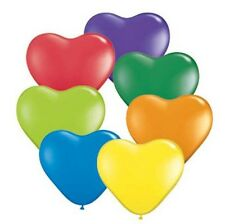 Party Supplies Birthday 15cm Latex Hearts Carnival Assort Latex Balloons Pk  10