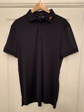 Mens J.Lindeberg Golf Polo Shirt Top, Size XL, Regular Fit, Pristine Condition