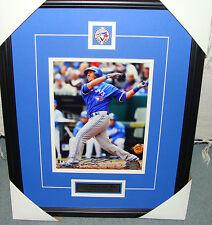 Jp Arencibia Firmado golpeando Béisbol 2012 8 X 10 FOTO Toronto Blue Jays Enmarcado