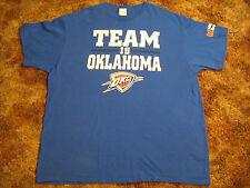 "Men's T Shirt OKC (Oklahoma City Thunder)  ""TEAM IS OKLAHOMA"" Size: XL [Y63g]"