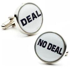 Deal No Deal Casino Game Cufflinks Dealmaker + Box & Cleaner