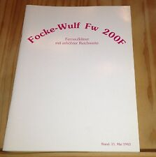 Focke-Wulf Fw 200F Fernaufklärer mit erhöhter Reichweite