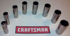 AIRCRAFT TOOLS  BRAND NEW 9PC CRAFTSMAN  3/8 DRIVE DEEP SOCKET SET 12PT A/F