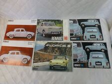 Renault Brochures Dauphine Gordini R8 R4 Floride S 1960s 1970s Lot of 6 Vintage