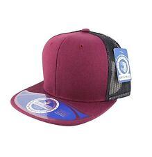 Wool Blend Mesh Snapback Adjustable Baseball Caps Trucker Men Hats Flat Bill