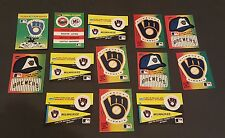 MILWAUKEE BREWERS   32 FLEER BASEBALL  STICKERS CARDS IN GREAT CONDITION