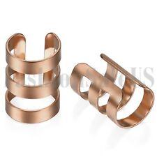2pcs Mens Womens Stainless Steel Ear Cuff Ear Clip Non-Piercing Clip On Earrings