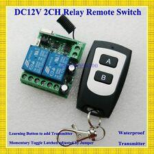 DC 12V 2CH Mini Remote Switch 10A Relay Contact NO COM NC Wireless Switch