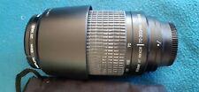 Nikkor AF 70–300mm F4–5.6 zoom lens + UV haze filter in mint condition