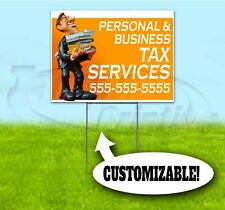 Tax Service Custom Phone 18x24 Yard Sign With Stake Bandit Usa Taxes Return