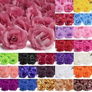 20pcs Artificial Rose Flower Heads Big Rose 70mm Wedding Party Decoration PWHS8