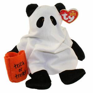 TY Beanie Baby - SHUDDERS the Ghost Bear (8 inch) - MWMTs Stuffed Animal Toy