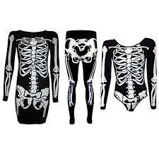 New Halloween Plus Size Leggings Bodysuit Skeleton Dress Costume women's 8-26