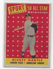 Mickey Mantle  1958 Topps #487