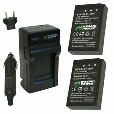 Wasabi Power Battery (2-Pack) and Charger for Olympus BLS-1, PS-BLS1