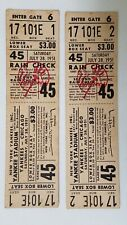 1951 YANKEES CHICAGO TICKETS ~ 2 Full Unused RAIN OUT July 28, 1951 ~ Game 45