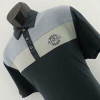 Mens Travis Mathew Prestige 77 Gray Athletic Causal Golf Polo Shirt Size Large L