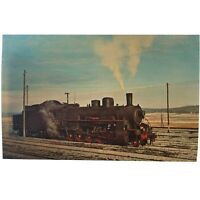Vintage Postcard, TRAIN locomotive, USSR Railways