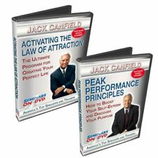 2 Disc Set - Jack Canfield Motivation DVD - Law of Attraction, Peak Performance