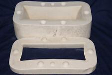 """Vtg Ceramic Pottery Slip Casting Mold - Oblong Flower Pot Planter - 11 1/2"""" Long"""