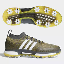 ADIDAS MEN'S TOUR 360 KNIT BOOST GOLF SHOES SIZE:US11.5 GRAY/WHITE/YELLOW 19152