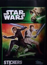 STAR WARS THE CLONE WARS (EUROPEAN VERSION) GREEN BACKS) X5O LOOSE STICKERS