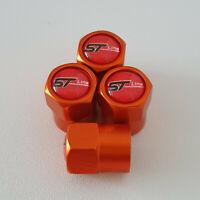 ST LINE metal Orange Valve Dust caps all models Lot Colours FAST POST RACING