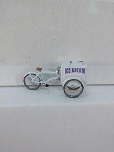 Arttista Old Fashion Ice Cream Cart on a Bike #1426 - O Scale On30 Figures - New