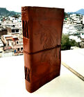 """Handmade Leather Dragon Journal Diary Notebook Sketchbook Gift Foe Her Book 9x5"""""""