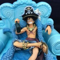 20th One Piece Anime Action Figures The blue dress doll set Monkey·D·Luffy Toy