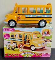 Calico Critters Sylvanian Families Cruiser Family Yellow School Bus + Box CC1466