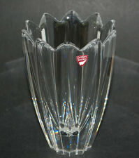 Orrefors Crystal Vase designed by Jan Johansson, Sweden Signed Vase