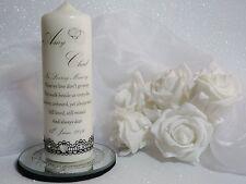 ~ Personalised Unity Candle ~ Keepsake Gift ~ WEDDING,ENGAGEMENT Memorial~ S4