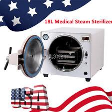 Usa 18l Dental Autoclave Steam Sterilizer Table Bench Medical Equipment 110v