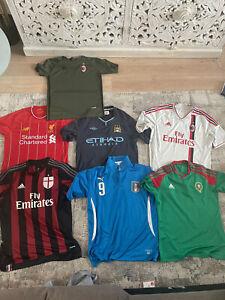 Football Shirt Joblot - MIXED BUNDLE - 7 SHIRTS | AC MILAN | ITALY | MOROCCO