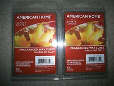 YANKEE CANDLE SHADES OF FALL American Home Wax Melts 2 Packs Lot 12 CUBES