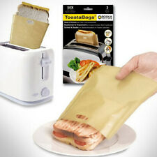 10 pack Reusable Toast Bags Pockets Toasty Toastabags Toaster Toastie Sandwich