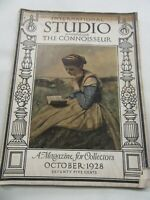 International STUDIO Assoc. w. The Connoisseur 1928 A Mag. for Collectors